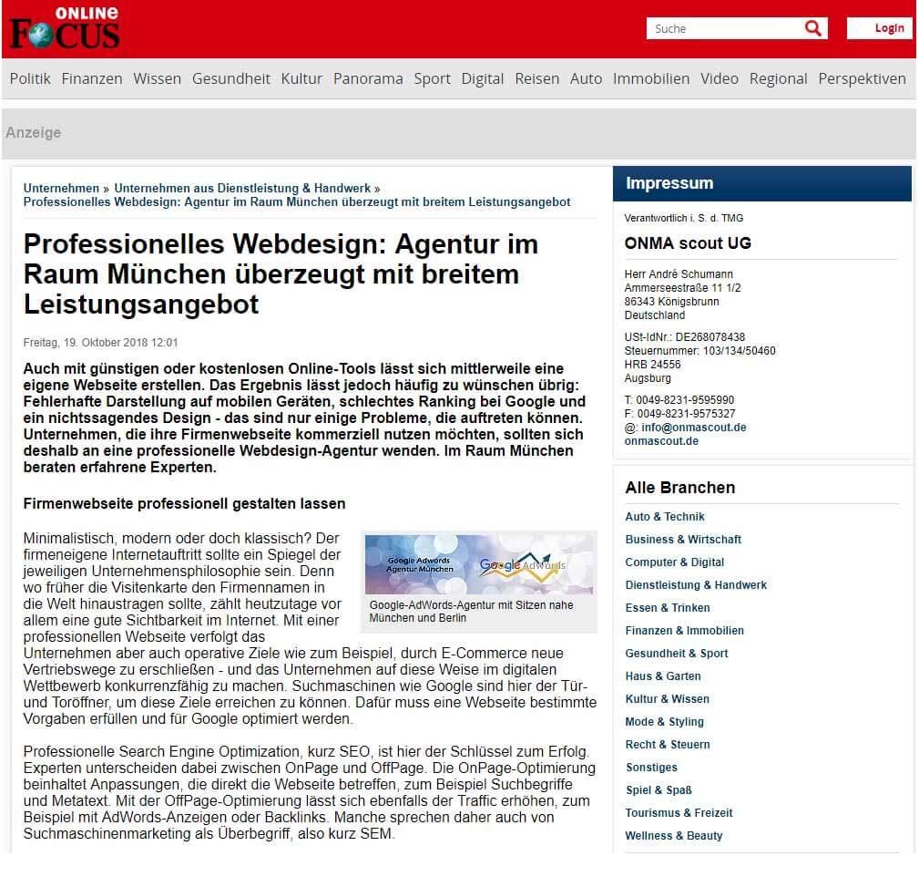 Professionelle Agentur für WebdesignGoogle, Google AdWords