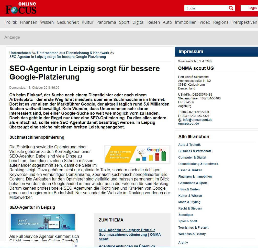 SEO, Adwords-Agentur für die Platzierung von Google-Anzeigen